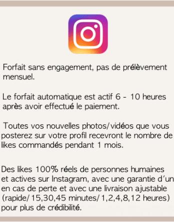 jaime automatique mensuel instagram
